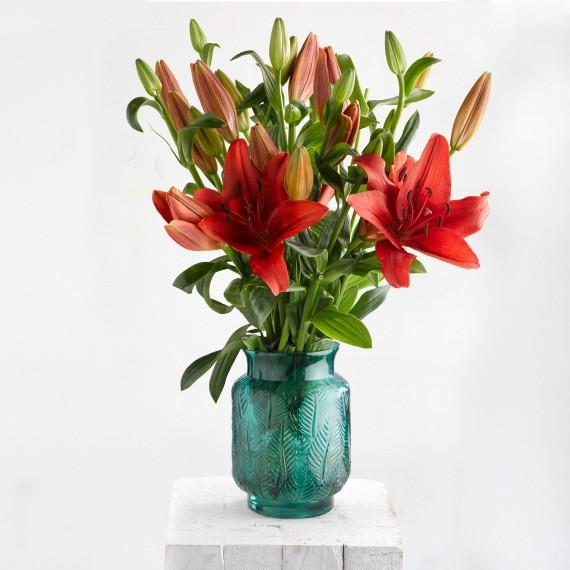 Ramo de flores lilium rojo