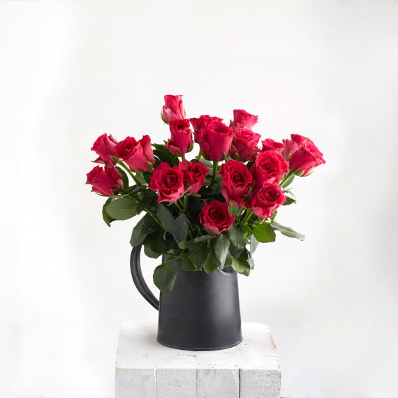 Ramo de rosas fucsia