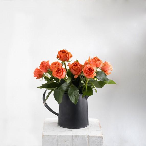 Ramos de rosas naranjas