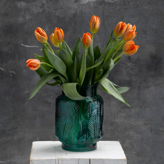 Tulipanes naranjas